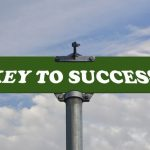 Key to success road sign for Theory of Constraints